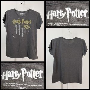 Harry Potter woman gray glitters T-shirt Junior XL